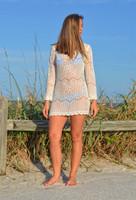 Tan ONSIZE Crochet  Swimwear Cover Up or dress