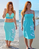 Mint strapless anchor one size dress
