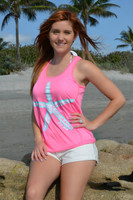 Neon Pink Racer Back Flowy starfish tank top