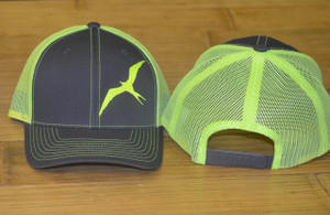 frigate neon yellow and charcole  adjustable mesh back hat