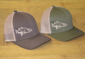 SNOOK Brown or Army Green   adjustable mesh back hat