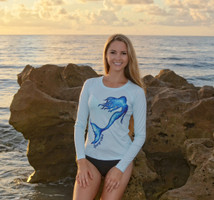 Womens Mermaid ice blue sun shirt