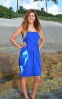 Royal Blue one size tube top mermaid dress
