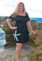 Womens Plus Black Starfish Dress