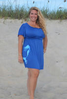 Womens Plus size royal blue mermaid Dress