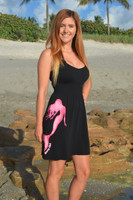 black with pink mermaid onesize with straps dress