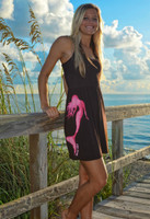Brown  with pink mermaid onesize with straps dress