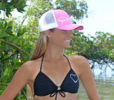 Pink snook hat with mesh back