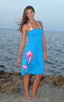 Turquoise Tube top one size mermaid dress
