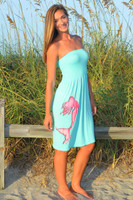 Mint Tube top one size mermaid dress