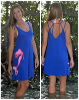 Royal Blue strapy back mermaid dress