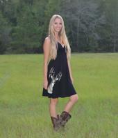 Pretty Black Deer Head dress