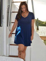 Navy mermaid t-shirt style dress