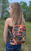 Orange camo/deer backpack