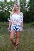 one size White Crochet top