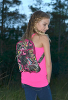 Pink camo/deer backpack