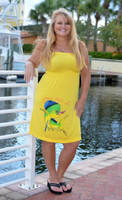 Yellow Dolphin Onesize Longer Length Fishing Dress