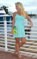Mint Dolphin strapped  onesize dress