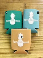 Pineapple and Mermaid Nautical Koozie