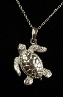 Sterling Silver seaturtle  Necklace