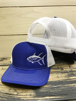 Sporty Blue Tuna Mesh Back  adjustable hat