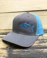 Blue / Charcole TUNA  Mesh Back  adjustable hat