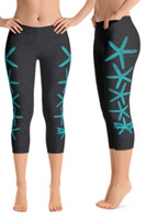 Starfish with crystals cropped leggings
