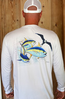 Frigate and yellowfin tuna sunshirt