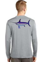 RACER MESH Mens gray  Sunshirt with SWORDFISH