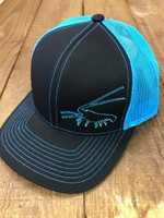 Lobster black with blue mesh snapback