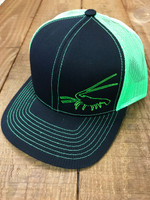 Spiny Lobster black withNeon Green  mesh snapback