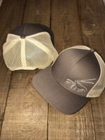 Lobster Brown and Khaki snap back mesh mens  hat