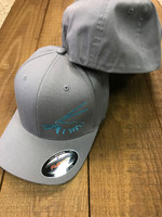 mens flex fit soild back gray with mint lobster hat