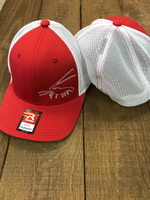 Men's flex fit mesh back  red and white - spiny   lobster  hat