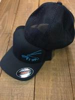 Men's flex fit mesh back BLACK - spiny   lobster  hat