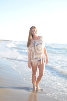 Crochet tan top-ONESIZE