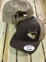 ELK Brown and Khaki snap back mesh mens  hat
