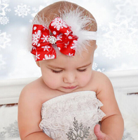 baby girl christmas head band