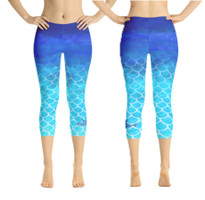 Mermaid scale dip dye leggings