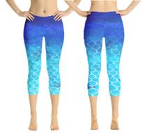 Mermaid scale dip dye leggings