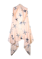 Peach starfish cardigan vest