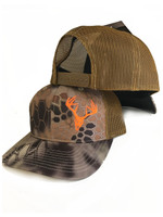 Kryptex  highlander  brown with neon orange Deer Skull
