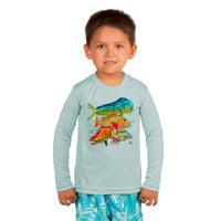 Toddler sunscreen UPF50+ mixed fish design