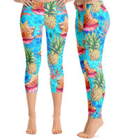 Conch coral and pineapple   yoga pants  SG ELITE BRAND