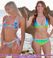 SG ELITE-REVERSIBLE BIKINI-TATE OF THE TROPICS print and MAHI SKIN PRINT