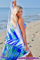 Tropical palm leaf print Round terry cloth oversized beach towel blanket