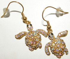 Crystal Turtle Earrings