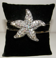 Crystal Starfish Cuff Bracelet