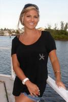 Womens Crystal Starfish Shirt