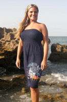 Lobster Onesize fits all tube dress NAVY